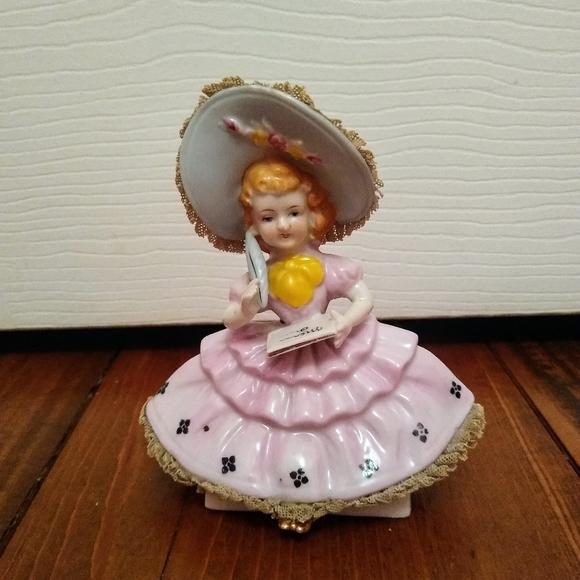 Adorable Vintage Girl Figurine